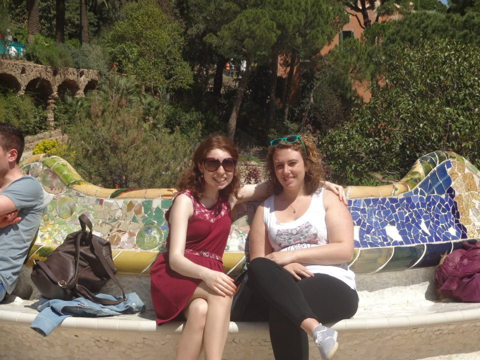 20130921 English students in Bcn 1, Emma and Dymphna © Private